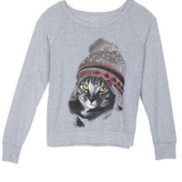 Kitten With A Beanie Long-Sleeve