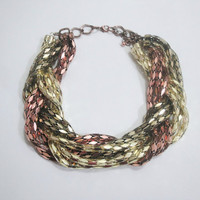 Statement Necklace, Statement Necklaces, Multi Chain Necklace, Bronze, Gold, Gun Metal, J Crew Necklace, JCrew, J.Crew Jewelry