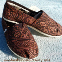 Handpainted Custom TOMS Shoes - Southwestern Design