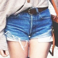 Made to Order- Custom Classic High Waisted Cut Off Shorts