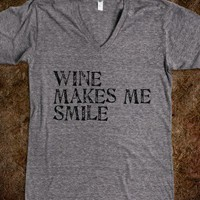 Wine Makes Me Smile Tee