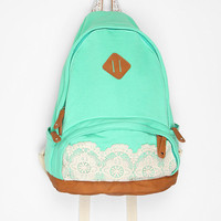 [Sold out]   Kimchi Blue Lace & Jersey Backpack