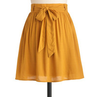 Clover the Moon Skirt in Honey | Mod Retro Vintage Skirts | ModCloth.com