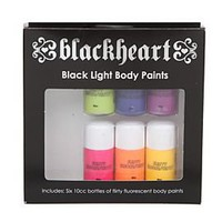 Blackheart Black Light Body Paint Set - 127010