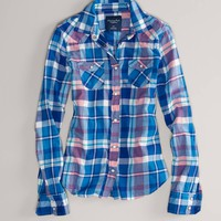 AE Plaid Flannel Western Shirt | American Eagle Outfitters
