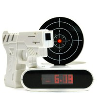 INFMETRY:: Gun O'Clock shooting alarm clock