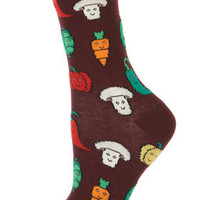 Wine Vegetable Ankle Socks - Tights &amp; Socks  - Apparel
