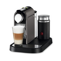 Nespresso® Citiz Automatic Espresso Machine in Titanium with Aeroccino 3 Milk Frother