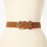 Spade Leather Belt - Tan