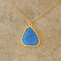 Granted Wish Druzy Necklace [3299] - $18.00 : Vintage Inspired Clothing & Affordable Fall Frocks, deloom | Modern. Vintage. Crafted.