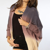 The Dip Dye Cotton Modal Dolman Cardigan in Sea