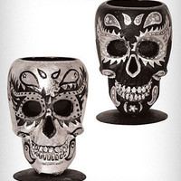 Sugar Skull Votive Candle Holder | PLASTICLAND