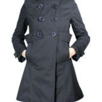Black Car Trench Coat Jacket