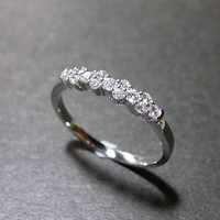 Diamond Wedding Ring In 14K White G.. on Luulla