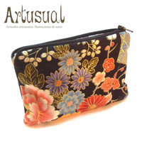 Handmade wallet with japanese fabric. Collection &quot;Orient&quot;. M005