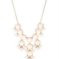 Ivory/Gold Bubble Necklace