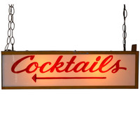 1STDIBS.COM - Polished Modern - Lighted Cocktails Sign