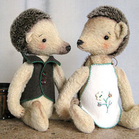 Artist Teddy Hedgehog Berta by zverrriki on Etsy