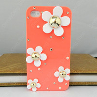 iphone case   flowers case  iPhone 4 case iPhone 4s case iPhone cover   14 color choices