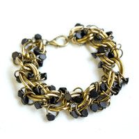 "Wood Bead ""Cluster"" Bracelet or Anklet"