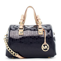 MICHAEL Michael Kors  Medium Grayson Monogram Satchel - Michael Kors
