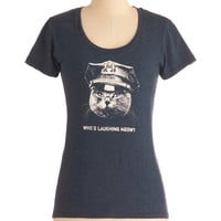 ModCloth Travel Mid-length Short Sleeves Claw Enforcement Tee