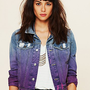 Free People Ombre Wash Denim Jacket