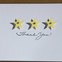 Star Thank You Cards- Baby Shower, Birthday, Bridal Shower, Wedding
