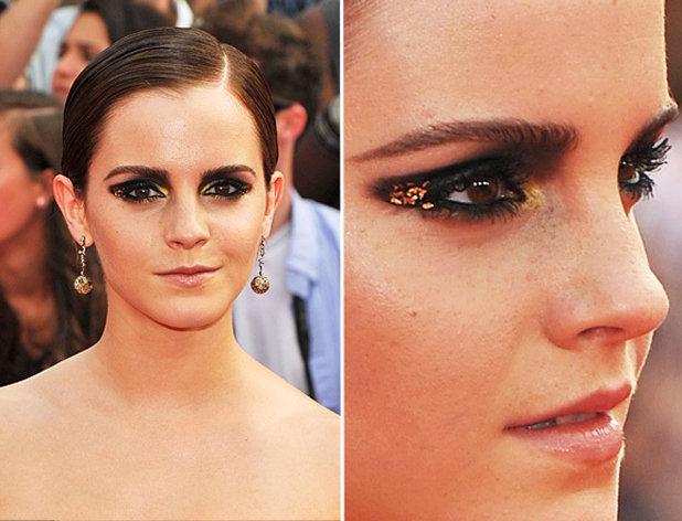 Emma Watson's Fabulous Gold Leaf Smokey Eye