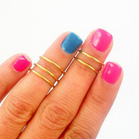 5 Knuckle Rings- Above Knuckle Rings - Plain Band Knuckle Rings - Set of 5 by Little Thing&#x27;s