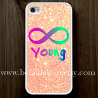 iPhone 4 Case, iphone 4s case, Forever Young iphone 4 case, infinity iphone 4 case, sparkle iphone 4case