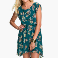 Lush 'Dakota' Vintage Floral Chiffon Dress (Juniors) | Nordstrom