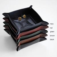 personalized leather catchall from RedEnvelope.com