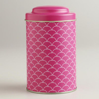 Pink Wave Tea Tin | World Market