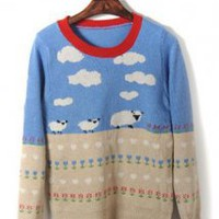 Cartoon Long-sleeved Sweater - Designer Shoes|Bqueenshoes.com
