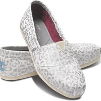 Silver Snow Leopard Women&#x27;s Vegan Classics | TOMS.com