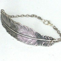 Steampunk FALLEN ANGEL FEATHER Bracelet