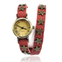 Wrap Watch With Star Studs Belt on Luulla