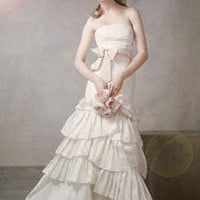 Mermaid Gown with Pleated Skirt and Bubble Hem - David's Bridal