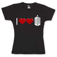 ThinkGeek :: I [Heart Heart] Doctor Who Babydoll