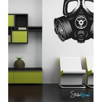 Vinyl Wall Decal Sticker Gas Mask MCrespo103s