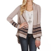 Oatmeal South West Cardigan