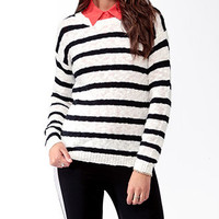 Striped Dropped Shoulder Sweater