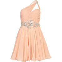 Light pink Forever Unique one shoulder dress
