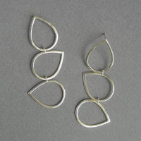 Silver Dangling Earrings - Drops Earrings