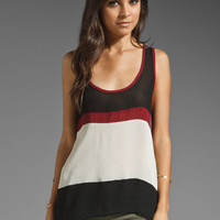 SAM&LAVI Adha Tank in Black/Burgundy/Bone Combo from REVOLVEclothing.com