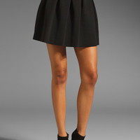 T by Alexander Wang Neoprene Bonded Inverted Pleat Skirt in Black from REVOLVEclothing.com