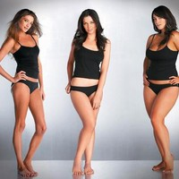 Exercise / Left to Right: Size 8, 12, 14 - gorgeous women no matter a size