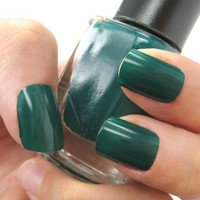 Dark Emerald Green - Vibrant Green Nail Polish Lacquer 9.8ml from nailartsupplies