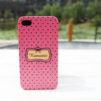 Apple iphone4G Dots Pink Romantic Protective Case - gulleitrustmart.com